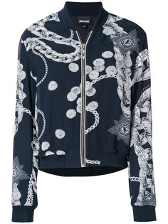 куртка-бомбер с принтом цепочек  Just Cavalli