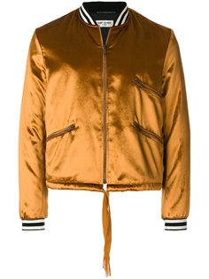 атласная куртка-бомбер Saint Laurent