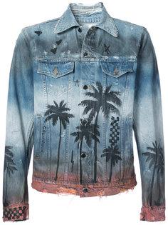 джинсовая куртка с принтом в виде пальм Amiri