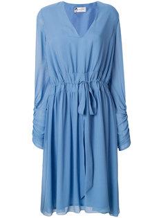 платье с V-образным вырезом и длинными рукавами Lanvin