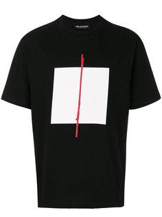 футболка с квадратным принтом Neil Barrett