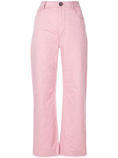 прямые брюки с высокой талией Marni