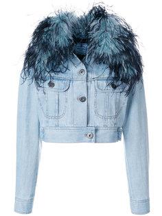 укороченная куртка с отделкой  Prada