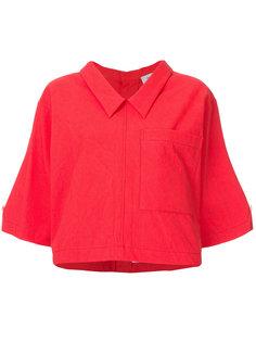 свободная укороченная рубашка Thom Browne