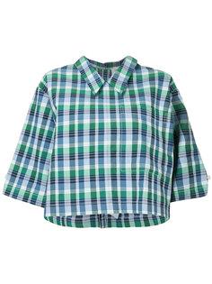 укороченная рубашка в клетку Thom Browne