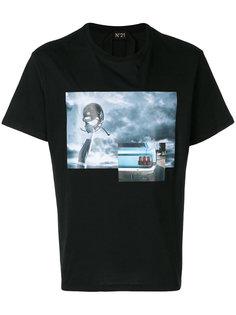 футболка с принтом Nº21