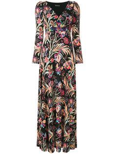длинное платье с V-образным вырезом  Etro
