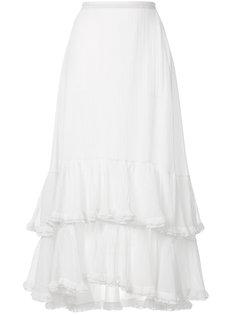 юбка с оборкой  Chloé