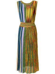 платье в полоску с поясом  Missoni