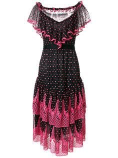 платье с рюшами Philosophy Di Lorenzo Serafini