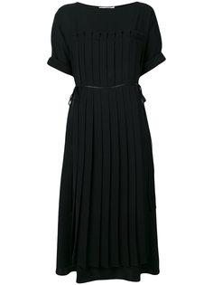 расклешенное платье с ребристой фактурой Jil Sander