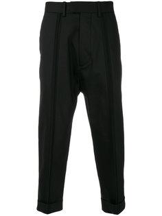укороченные брюки со складками спереди Diesel Black Gold