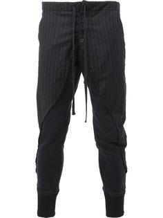 брюки скинни в полоску Greg Lauren