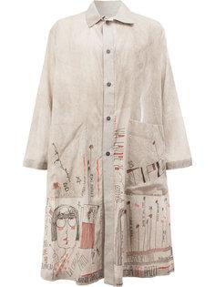 пальто с принтом Miaoran