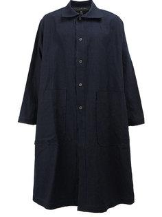 однобортное пальто в стиле оверсайз Miaoran