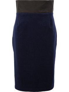 приталенная юбка с завышенной талией  Aganovich