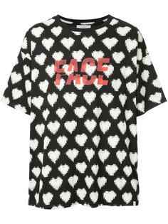 футболка с принтом сердец Facetasm