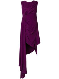 асимметричное платье с драпировкой  Off-White