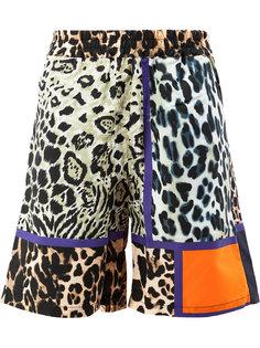 шорты с леопардовым узором Pierre-Louis Mascia