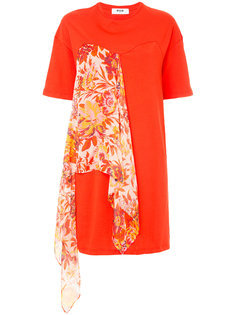 платье-футболка с шарфом  MSGM
