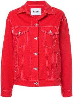 классическая джинсовая куртка  MSGM