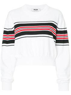 укороченные свитер в полоску MSGM