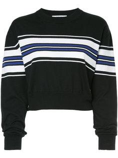 укороченный свитер в полоску MSGM