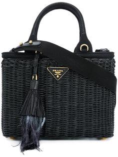 плетеная сумка Prada