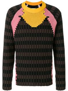 свитер дизайна колор-блок Maison Margiela