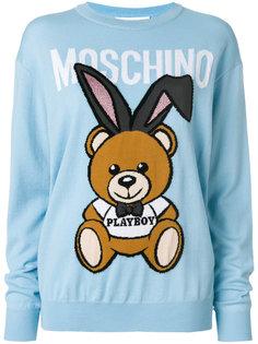 свитер с логотипом Playboy Moschino