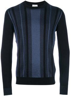 свитер с полосатым узором Brioni