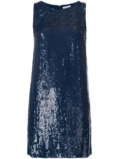 короткое платье шифт с пайетками  P.A.R.O.S.H.