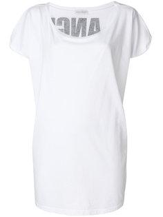 футболка с надписью сзади  Faith Connexion