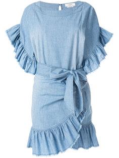 джинсовое платье с оборками  Isabel Marant