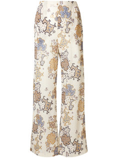 плиссированные широкие брюки с принтом  See By Chloé