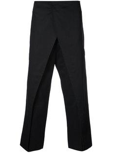 брюки с запахом спереди Jil Sander