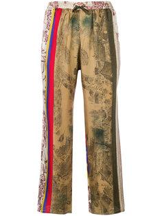 укороченные брюки с узором  Pierre-Louis Mascia