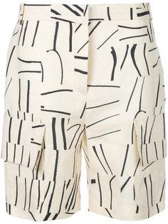 шорты карго с полосатым принтом Victoria Victoria Beckham