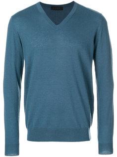 кашемировый свитер с V-образным вырезом Falke