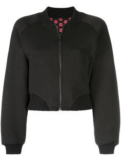 укороченная куртка-бомбер с принтом Yazbukey