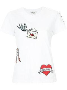 футболка с аппликацией Yazbukey