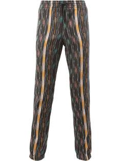 брюки с принтом Икат Saint Laurent