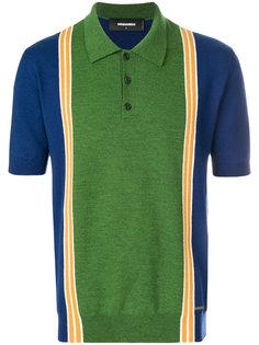 рубашка-поло дизайна колор-блок Dsquared2