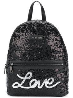 рюкзак с пайетками Love Moschino