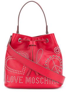 сумка-тоут с заклепками Love Moschino