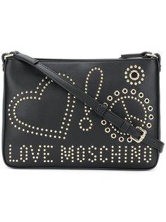 сумка на плечо с заклепками и логотипом Love Moschino