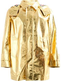 пальто с отделкой металлик Thom Browne