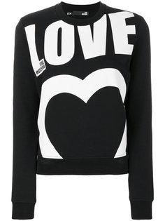 толстовка с принтом логотипа Love Moschino