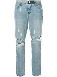 зауженные джинсы с рваными деталями Rta
