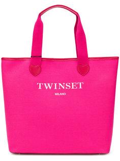 сумка-тоут с принтом логотипа Twin-Set